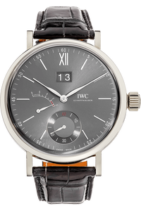 18K White Gold Portofino Hand-Wound Big Date Manual