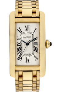 18K Yellow Gold Tank Americaine Automatic