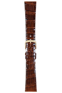 18 mm Chestnut Alligator Strap