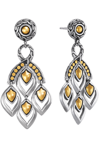 Naga Gold & Silver Earrings