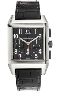 Stainless Steel Reverso Squadra GMT Chronograph Automatic