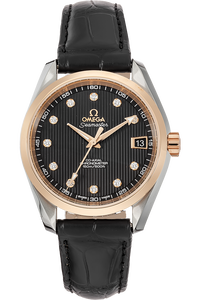 18K Rose Gold and Stainless Steel Seamaster Aqua Terra Co-Axial Automatic