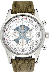 Stainless Steel Transocean Unitime Chronograph Automatic