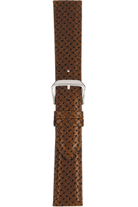 18 mm Tan Basketweave Grain Leather Strap
