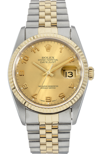 18K Yellow Gold and Stainless Steel Datejust Automatic