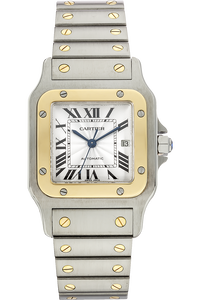 18K Yellow Gold and Stainless Santos Galbee Automatic