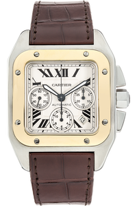 Santos 100 Chronograph Yellow Gold and Stainless Steel Automatic