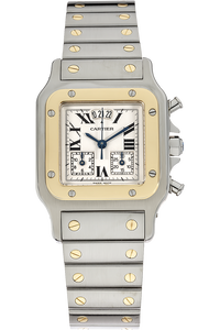 Santos Galbee Chronograph Yellow Gold and Stainless Steel