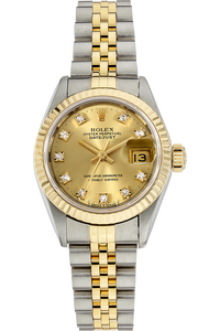 18K Yellow Gold and Stainless Steel Datejust Automatic Circa 1984