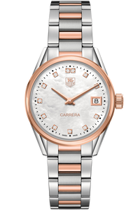 Carrera Quartz Rose Gold Watch Diamond Dial