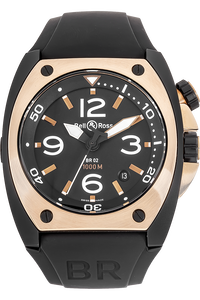 18K Rose Gold and DLC Stainless Steel BR 02 Automatic