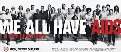 """WE ALL HAVE AIDS"" CAMPAIGN LAUNCHED"