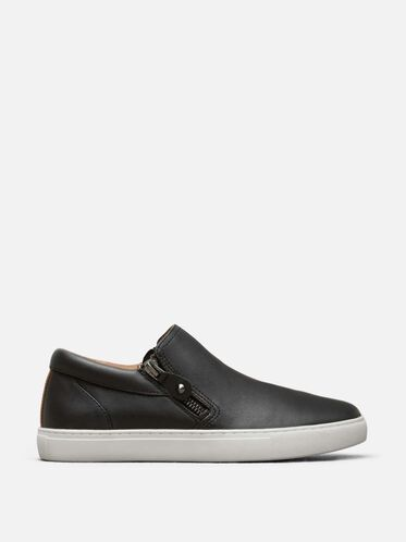 Lowe Leather Sneaker, BLACK