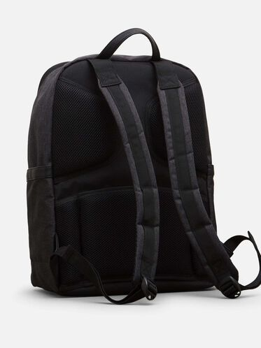 Single Gusset Computer Backpack, CHARCOAL