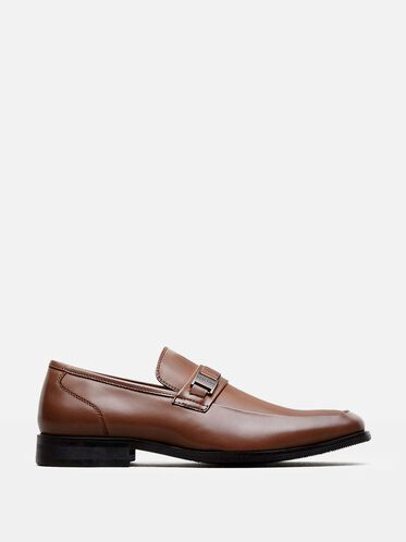 Near D Mark Bit Detail Loafer, COGNAC