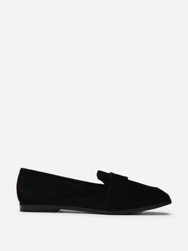 Glide Slide Velvet Loafer, BLACK
