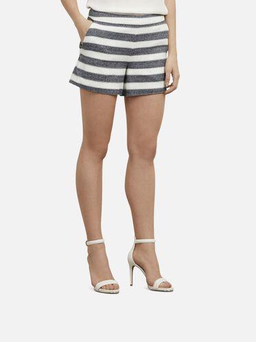 Striped Shorts, D MRNE/ECRU