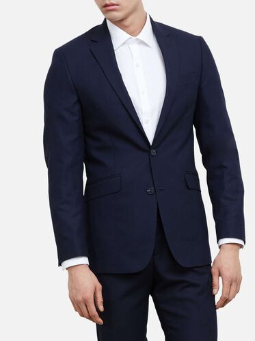 Slim-Fit Notch-Lapel Suit Jacket, 413NAVY, hi-res