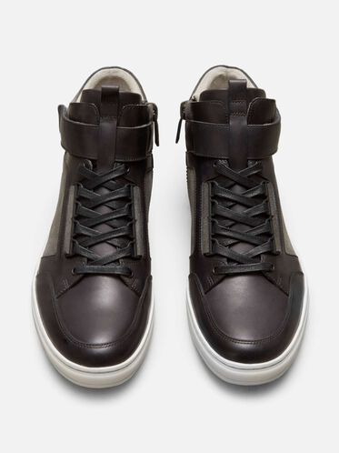 Brand-Y Leather Sneaker, GREY
