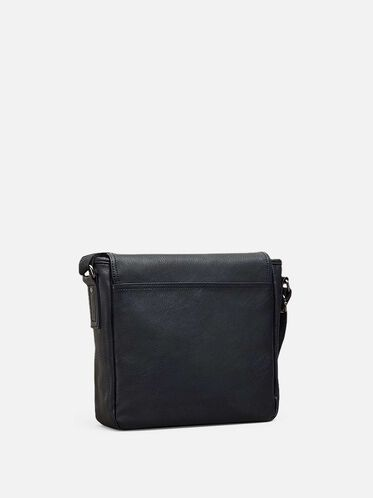 Buckle-Front Flapover Tablet Case, BLACK