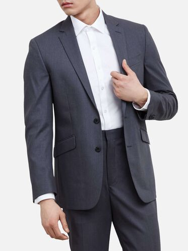 Slim-Fit Notch-Lapel Suit Jacket, 030GREY