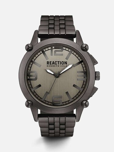 kenneth cole men s smart watches automatic watches leather grey stainless steel watch