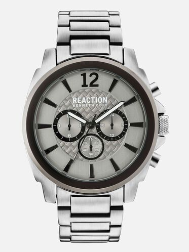 Stainless Steel Silver-Tone Watch, NO COLOR