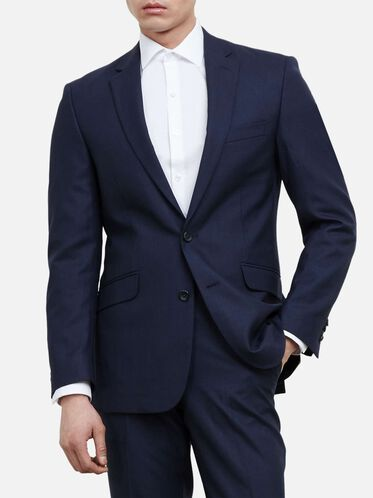 Slim-Fit Notch-Lapel Suit Jacket, 421BLUE