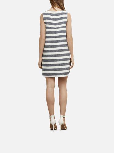 Sleeveless Woven Dress, D MRNE/ECRU