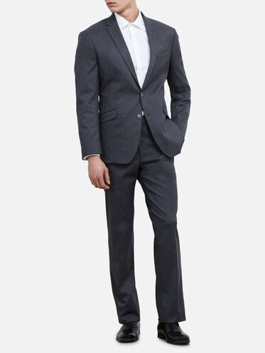 Techni-Cole Flex Box Check Nested Suit, 035MED GRE