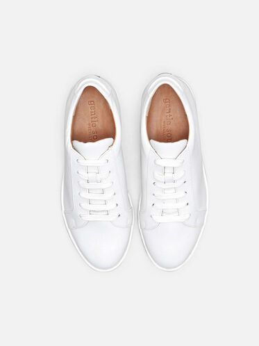 Haddie Platform Sneaker, WHITE