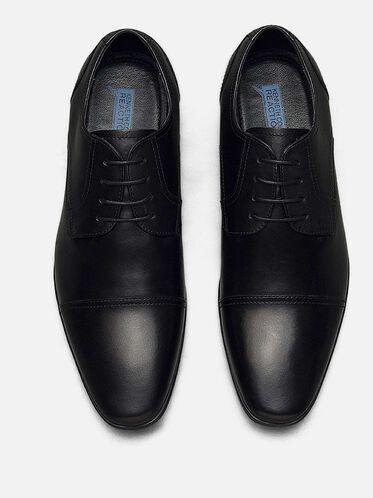 Deter-Min-Ed Leather Cap-Toe Oxford, BLACK