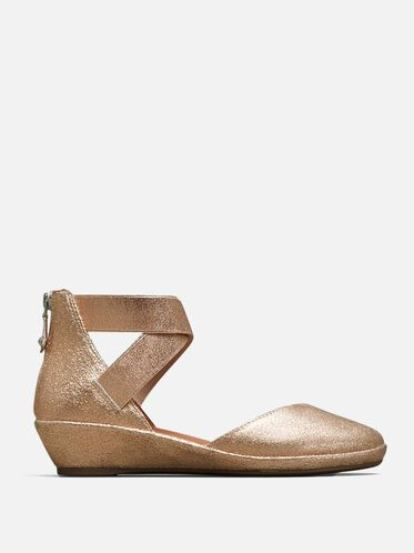NOA LEATHER ANKLE-STRAP WEDGE, ROSE GOLD, hi-res