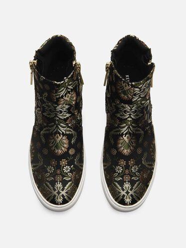 Kiera Floral Print Sneaker, BEIGE MULTI