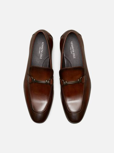Spare Time Leather Loafer, COGNAC