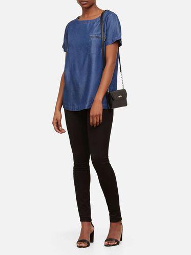 Liza Cross-Body Bag, BLACK