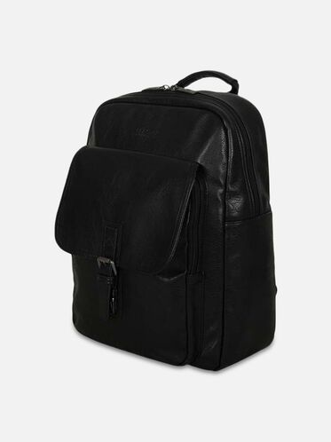 Single Compartment Computer Backpack, BLACK