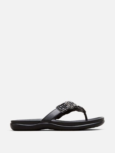 Glam-Athon Beaded Sandal, BLACK