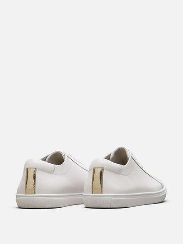 Mens Kam Leather Sneaker, WHITE