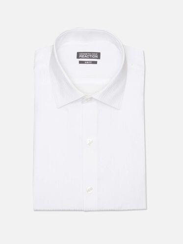 Long Sleeve Slim Fit Dress Shirt, WHITE