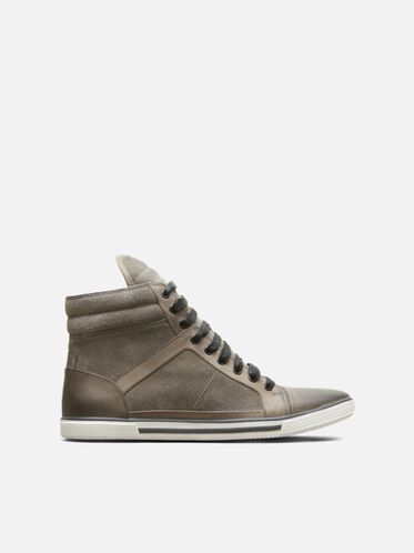 Sun-Down High-Top Sneaker, GREY