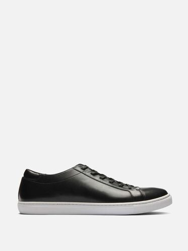 Mens Kam Leather Sneaker, BLACK