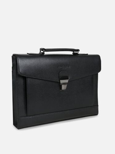Saffiano Leather Document Case, BLACK, hi-res