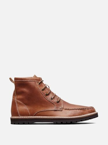 Mesh Well Lace-Up Boot, COGNAC, hi-res