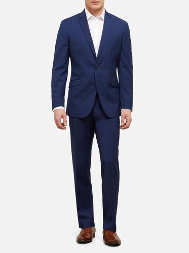 Slim Fit Nested Mini Check Suit with Finished Hem, 431BRIGHT