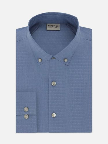 Techni-Cole Slim-Fit Dress Shirt, BLUEJAY