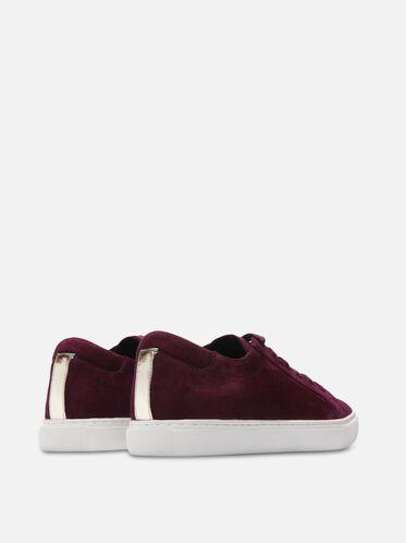 Womens Kam Suede Sneaker, EGGPLANT