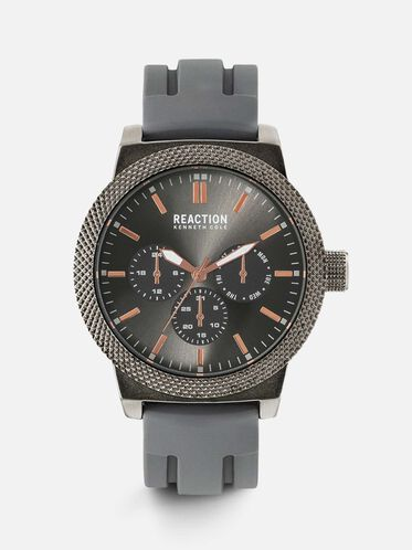 Multi-functional Grey Gunmetal Watch, NO COLOR