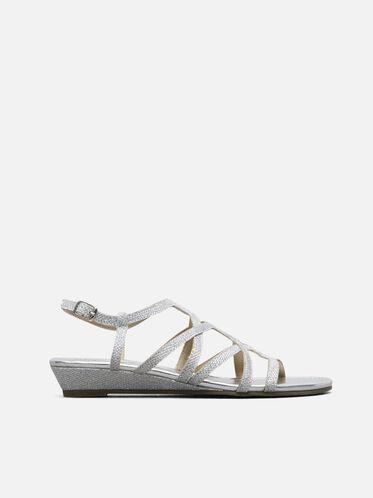 Color Number Ankle Strap Sandal, SILVER, hi-res