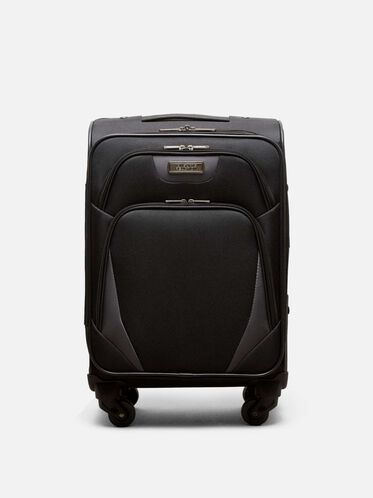 20 Inch Going Places 4-Wheel Carry-On Suitcase, BLACK